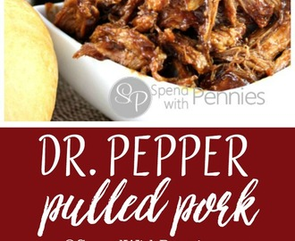 Dr. Pepper Pulled Pork (Slow Cooker Recipe)