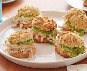 Chicken Pot Pie Sandwich