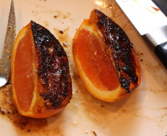 Easter Dinner: Ham Steak with Charred Blood Oranges
