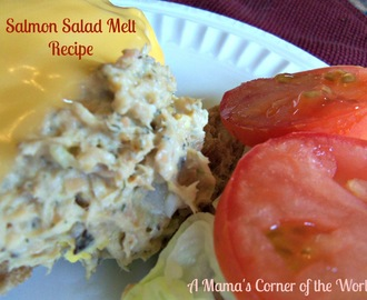 Easy Lunch Recipe:  Salmon Salad Melt Recipe Idea
