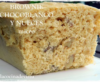 Brownie Chocolate blanco y nueces microondas