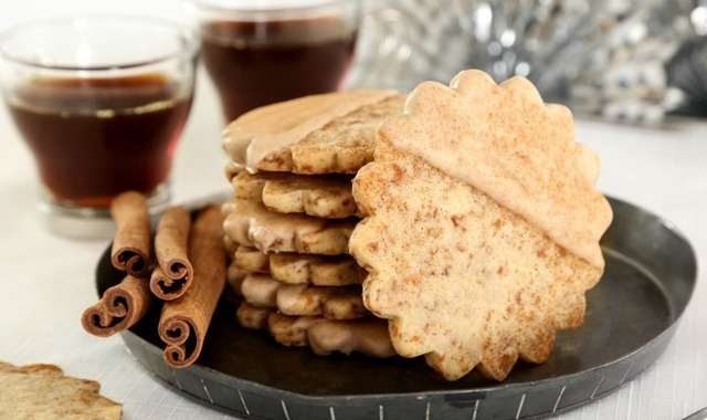 Toasted Coconut Chai Shortbread Cookies
