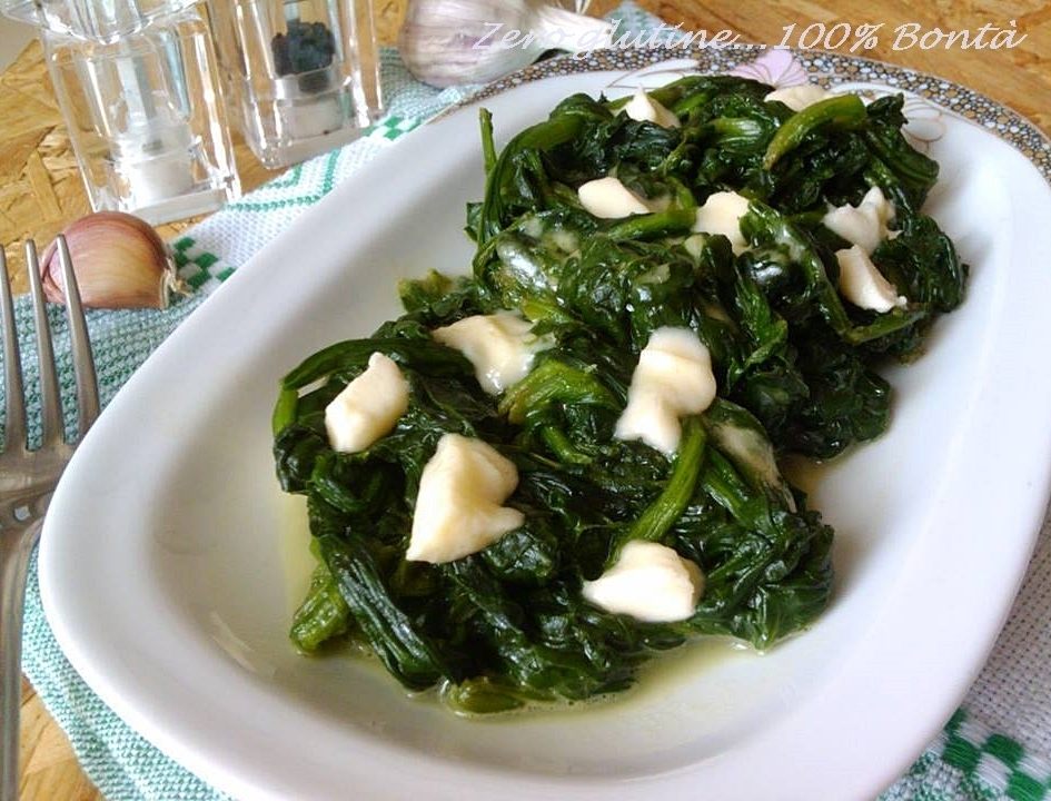 Spinaci filanti in padella