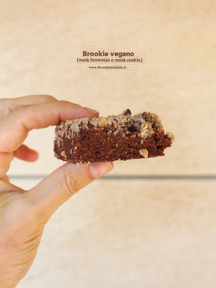 Brookies vegano (metà brownie e metà cookie)
