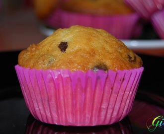 Muffins de chips de chocolate por Giov