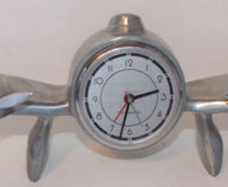 1983 SARSAPARILLA PROPELLER AIRPLANE METAL FINISH ALARM CLOCK