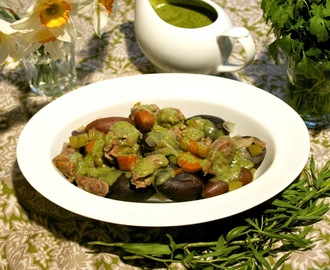 Veal Stew: Green-as-Spring Veal Stew  #French Fridays with Dorie