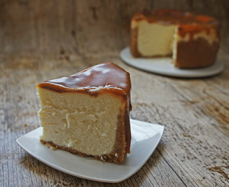 New York cheesecake con caramelo salado