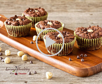 Paleo Flourless Chocolate Hazelnut Muffins