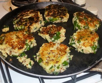 Quinoa, Buckwheat and Chard Patties with an Avocado and Sun Dried Tomato Dip Recipe
