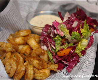 Shrimps mit White Alabama BBQ Sauce