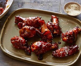 Sticky Honey-Soy Chicken Wings