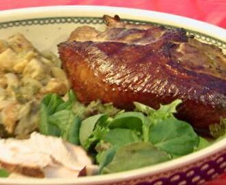 "Pete's ""Cut-up"" Beer Brined Apple Smoked Turkey"