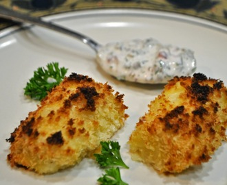 OVEN FRIED FISH STICKS WITH TARTAR SAUCE