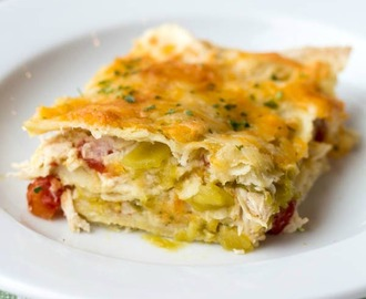 Chicken Enchilada Verde Bake