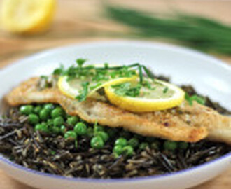 recipe: Easy Wine Lemon Butter Fish on Wild Rice