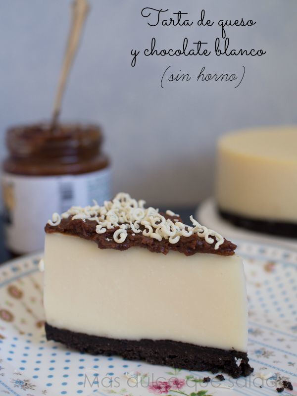 Tarta de queso y chocolate blanco