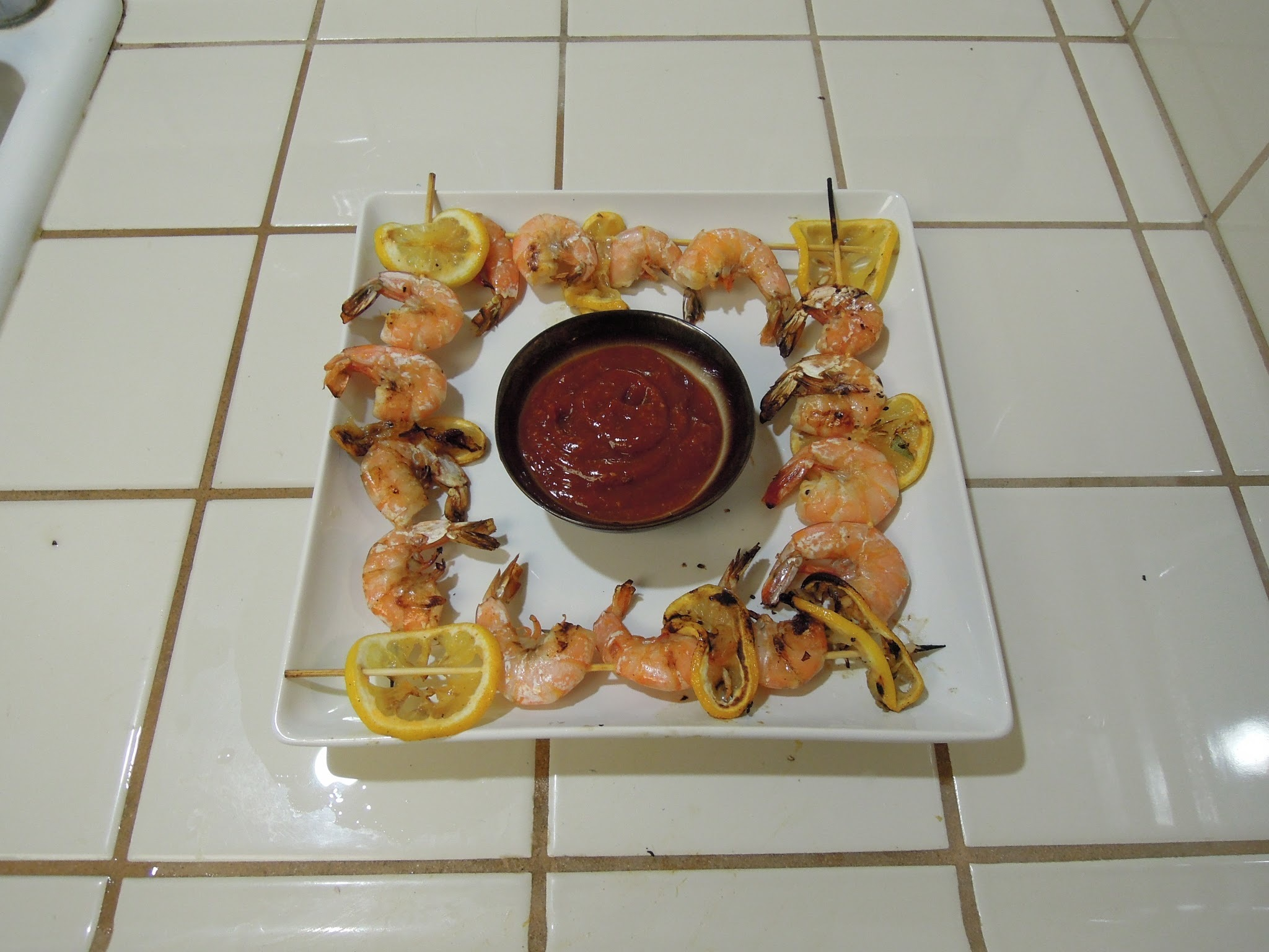 Grilled Shrimp Cocktail with Cajun Spices (Bbq dishes, part one of three)