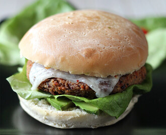 Vegetarischer Bean Burger