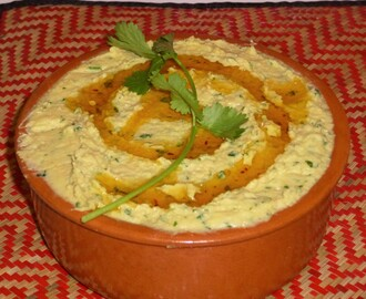Lemon and Coriander Hummus with Easy Wholemeal Flatbreads Recipe