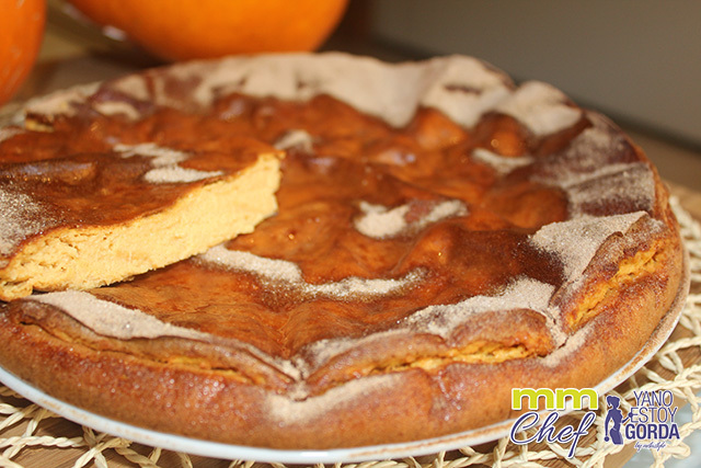 "Pastel de queso y calabaza ""fit"" Halloween cheesecake"