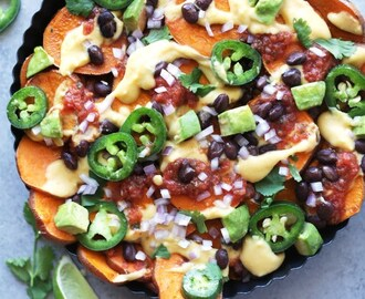 Best ever vegan sweet potato nachos