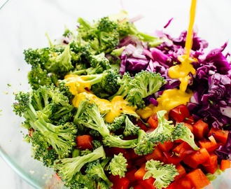 Colorful Chopped Salad with Carrot Ginger Dressing