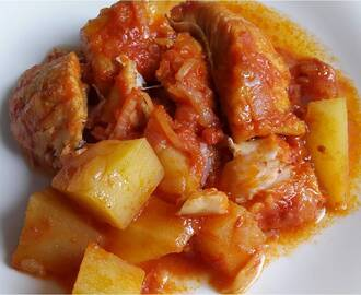 BACCALA' IN UMIDO CON PATATE