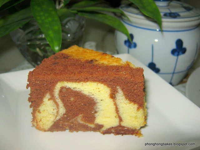 Chocolate Orange Marbled Chiffon Cake
