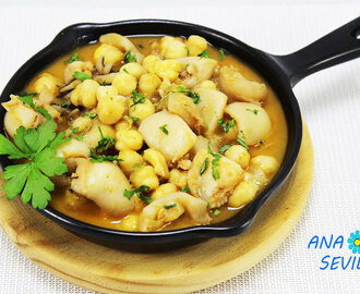 Garbanzos con sepia Thermomix
