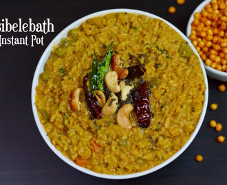 INSTANT POT Bisibelebath|Hot Lentil Rice|Curried Lentil Rice|Sambhar sadam