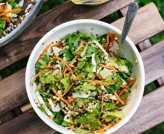 Mega Crunchy Romaine Salad with Quinoa
