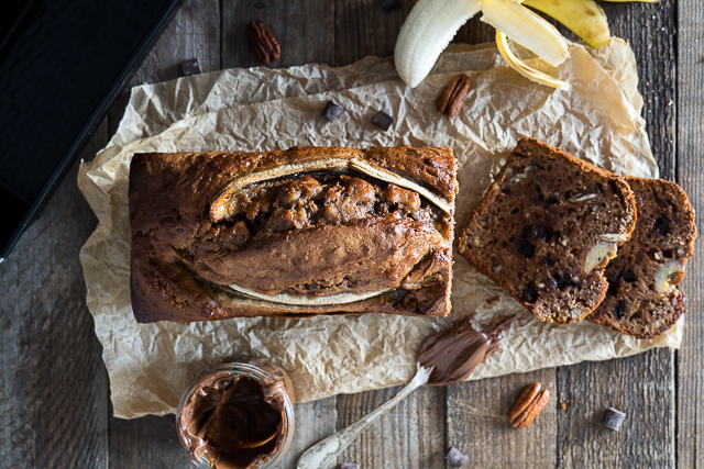 Nutella-Pecannuss Banana Bread