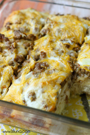 Egg Breakfast Casserole with Biscuits