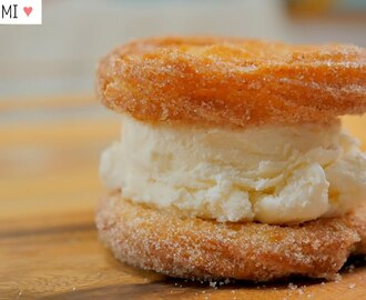 Churros Ice Cream Sandwich [FOOD VIDEO]  [스윗더미 . Sweet The MI]