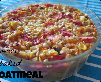 {Clean Eating} baked Oatmeal vegan