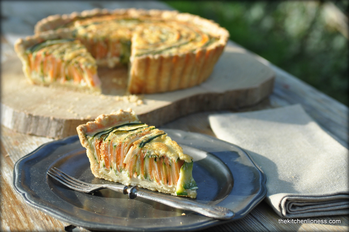 Vegetable-Spiral-Quiche - Gemüse-Spiral-Quiche