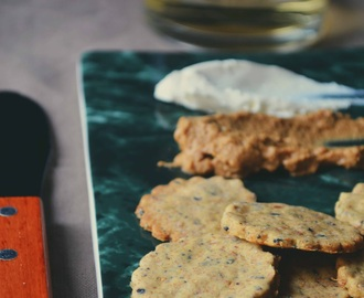 Crackers veganos con semillas