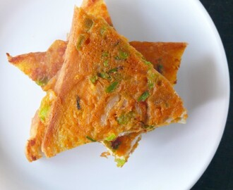 eggless bread omelette /vegetarian omelette recipe