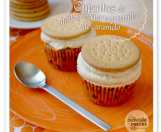 CUPCAKES DE GALLETA MARÍA Y NATILLAS AL CARAMELO / BISCUIT AND CARAMEL CUSTARD CUPCAKES