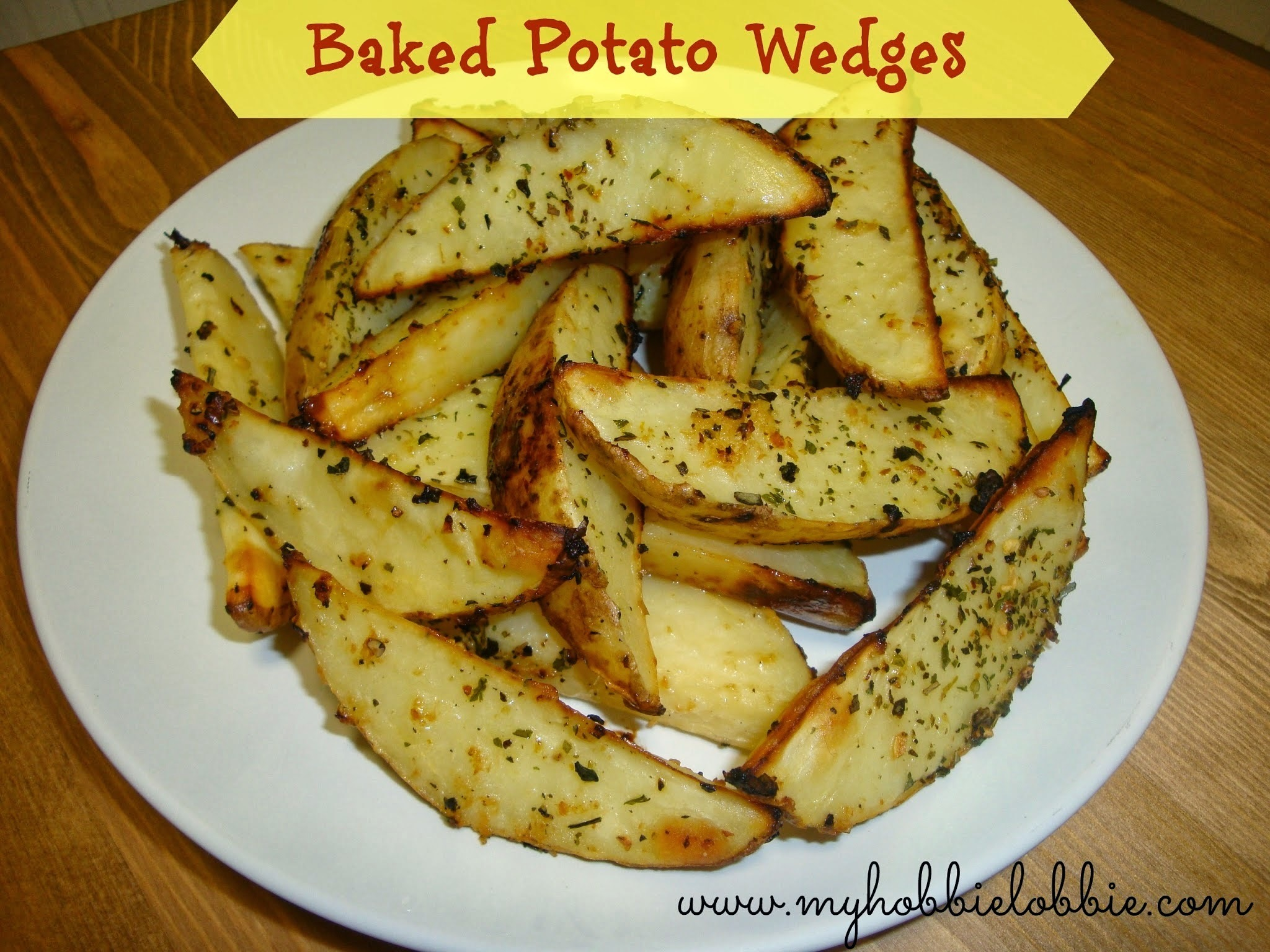Baked (Garlic Herb) Potato Wedges