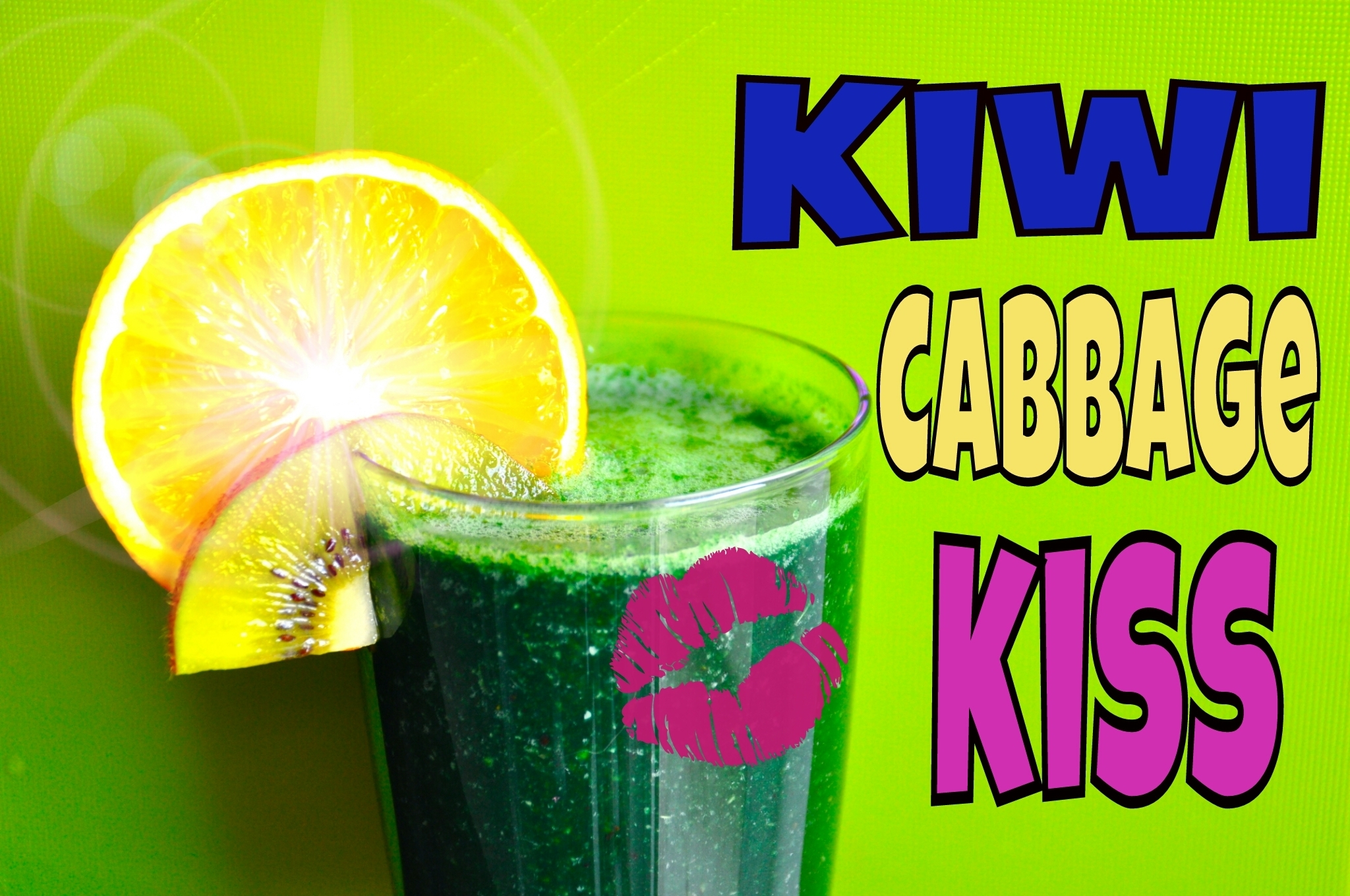 Kiwi Cabbage Kiss Smoothie Recipe