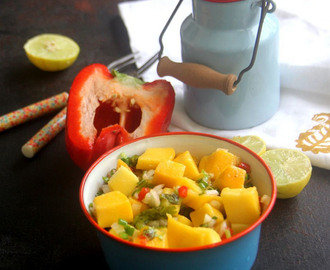 Mango Salsa recipe - Spicy Mango Salad recipe - Healthy salad recipe