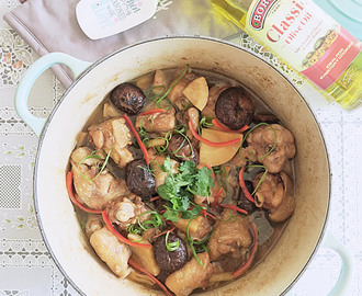 Braised Chicken with Bamboo Shoot & Mushroom