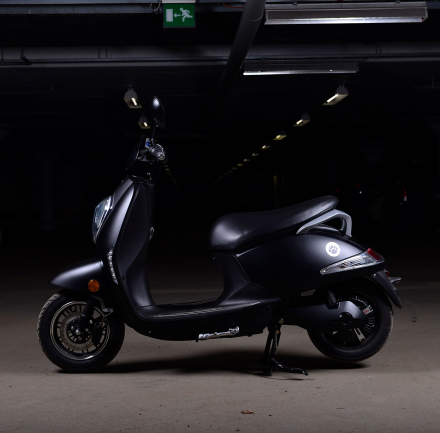 Elmoped Vessla Svart 45kmh