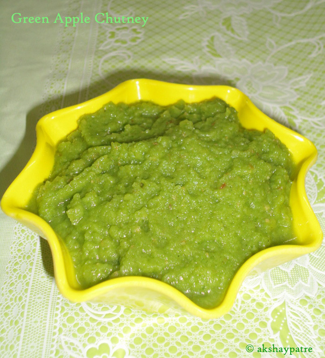 Green apple chutney recipe