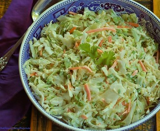 Spicy Cilantro Slaw with Creamy Lime Dressing