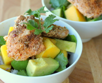 Jamaican Jerk Salmon Bowl