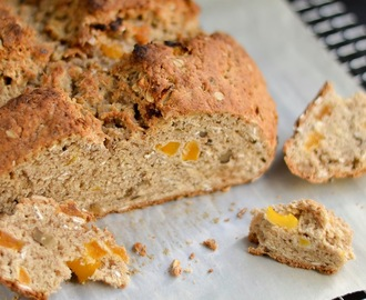 Irish Soda Bread with Oatmeal, Walnuts and Apricots
