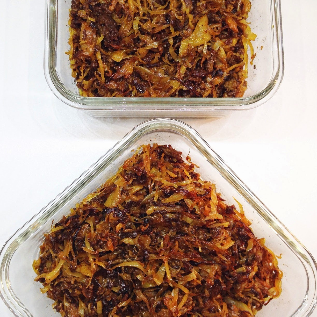 Caramelized cabbage & ground beef / Karameliserad vitkål & köttfärs
